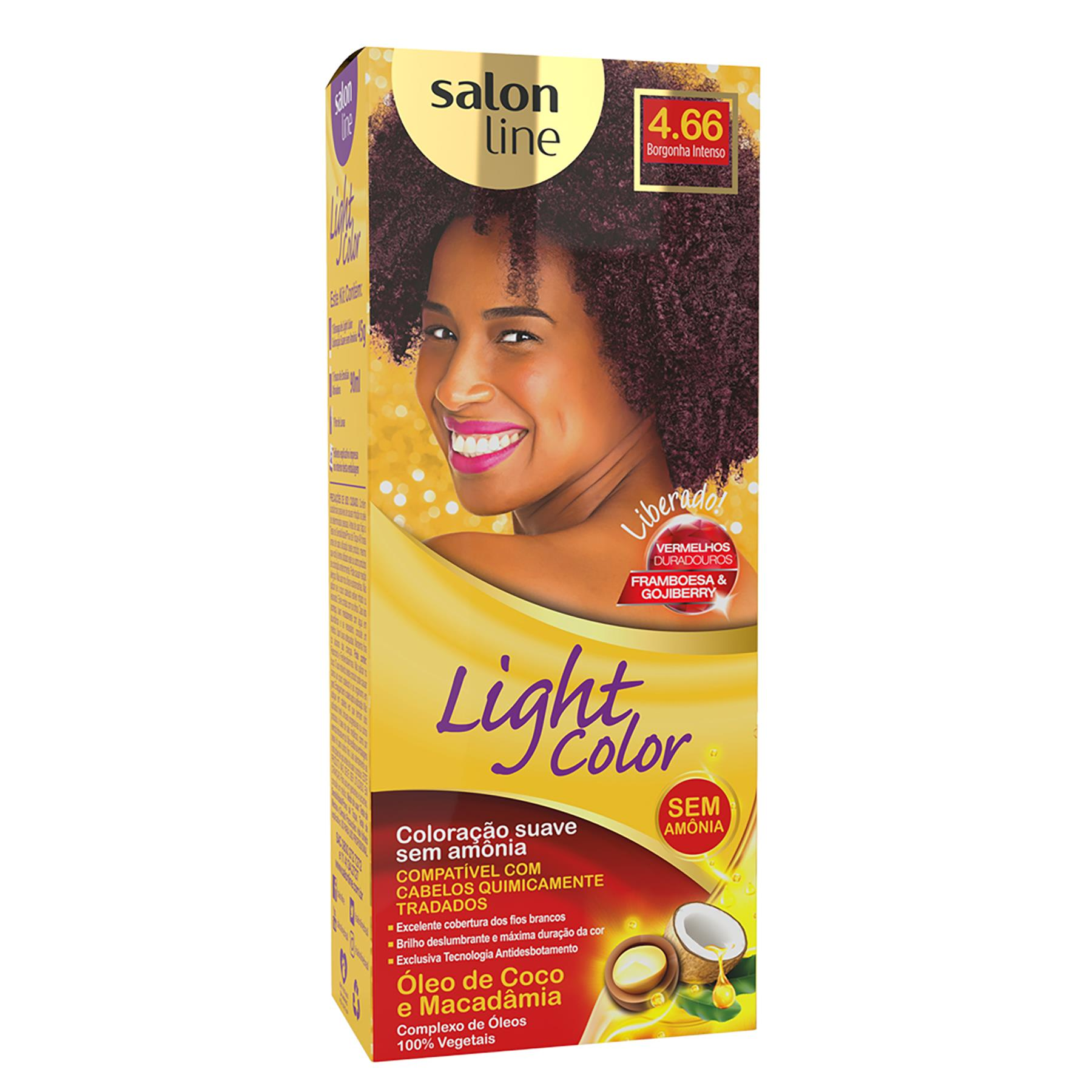 COLORAÇÃO BORGANHA INTENSO 4.66 - COLOR LIGHT SALON LINE