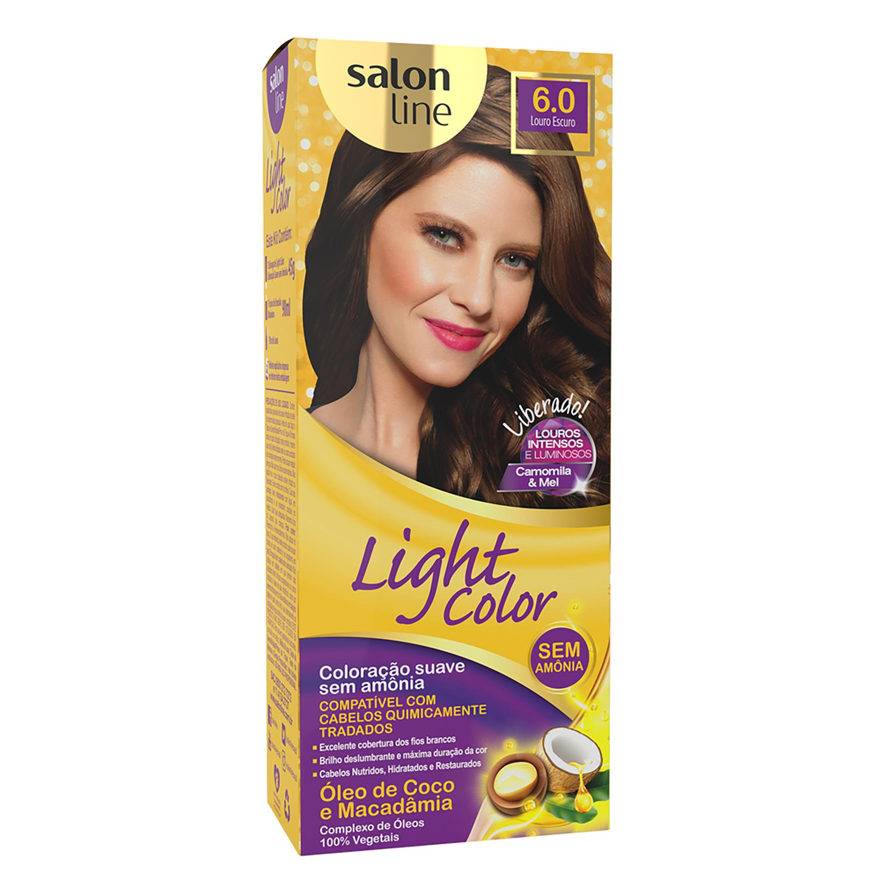 COLORAÇÃO LOURO ESCURO 6.0 - LIGHT COLOR SALON LINE