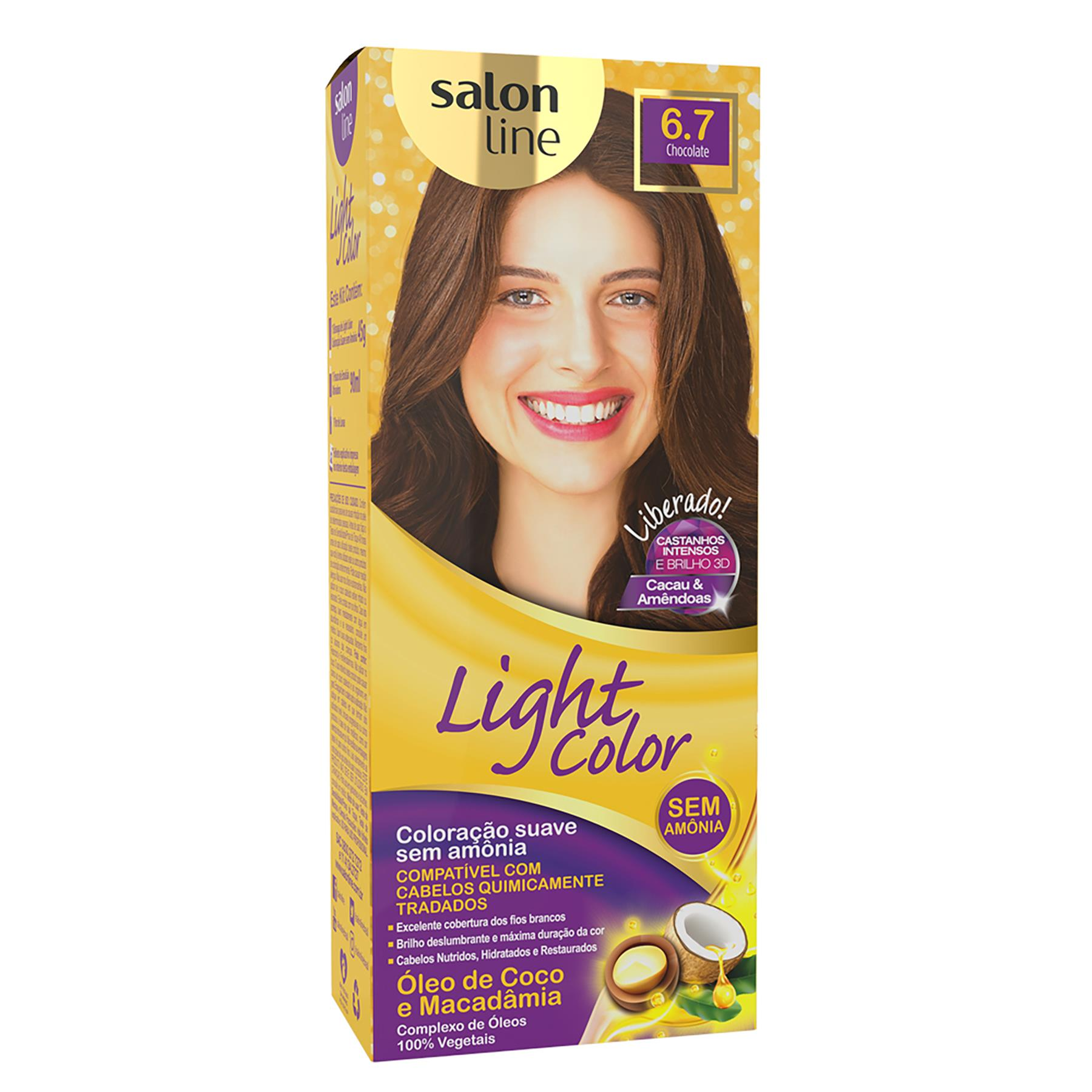 COLORAÇÃO CHOCOLATE 6.7 - LIGHT COLOR SALON LINE