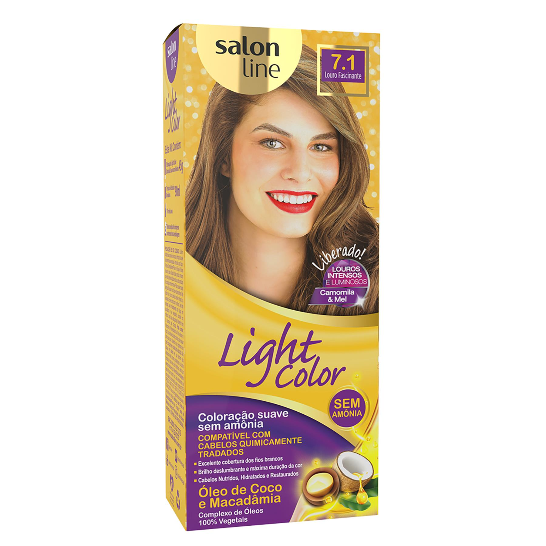 COLORAÇÃO LOURO FASCINANTE 7.1 - LIGHT COLOR SALON LINE